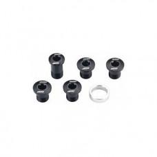 Бонки велосипедные BBB TorxStars, алюминий, campa compact, черные, 4 болта+1 для сборки, BCR-53C