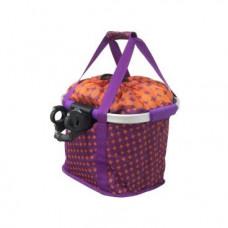 Корзина KELLY'S SHOPPER, 36x32x28см, тканевая, с крепежом на руль 22,2/25,4/31,8мм, Shopper purple