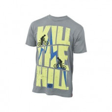 "Футболка мужская KELLYS  ""Kill the Hill"", 100% хлопок, серая, XL, Men's Kill the Hill Tshirt"