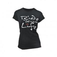 "Футболка женская KELLYS  ""Ride Your Life"", чёрная, M, Women's Ride Your Life Tshirt Black, M"