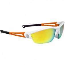Очки велосипедные KELLYS WRAITH, оправа оранжевая, линзы оранжевые, Revo+синие, футляр