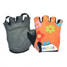Перчатки TBS 223-1, детские, микрофибра / лайкра, L/XL(8,2х13см), оранжевые с цветами, 223-1(L/XL)