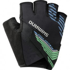 Велоперчатки Shimano  Advanced, длинные пальцы, зеленый, размер L,  ECW-GLBS-NS11-YG4