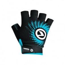 Перчатки KELLYS IMPACT SHORT Lycra, чёрный/синий, L, Gloves IMPACT SHORT Lycra black-blue, L