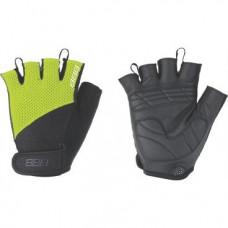Перчатки велосипедные BBB Cooldown/Chase, унисекс, размер S, гелевые вставки, черный/желтый, BBW-49