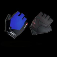 Велоперчатки короткие GripGrab ProGel, синтетисческая кожа, гелевые накладки, синий