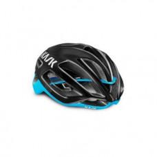 Велошлем Kask PROTONE, 11 отверстий, пенистый полистирол, поликарбонат, шоссе, 230 г, черный/голубой