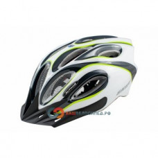 Велошлем спортивный AUTHOR Skiff INMOLD 141 Grn, 14 отверстий (52-58см) зелено-белый 8-9001261