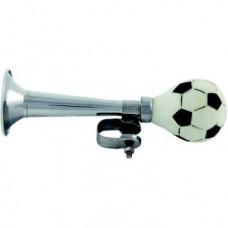 """Клаксон 5-200253 резина/сталь прямой """"футбольный мяч"""" хромированный"""